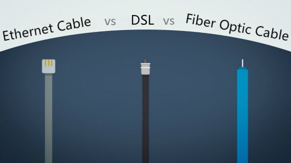 DSL vs Ethernet Cable vs Fiber Optic Cable Speed