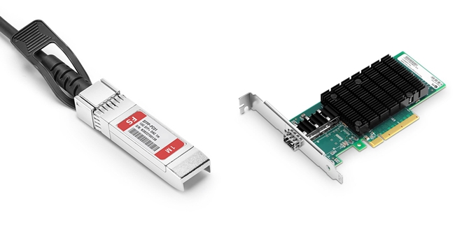 FS 10G Lan Card with DAC Cable